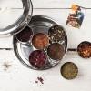 7 Loose Leaf Tea Gift Set Tin With Silk Sari Wrap and Tea Diffuser